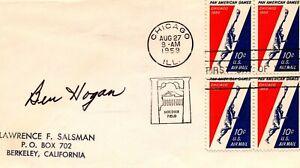 BEN HOGAN AUTOGRAPHED 1959 FIRST DAY ISSUE ENVELOPE  JSA