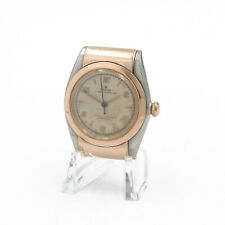 ROLEX OYSTER PERPETUAL BUBBLE BACK ROSE GOLD TWO TONE RUNS VINTAGE NR #8913