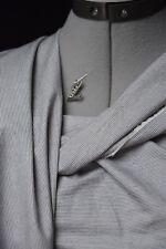Lilith. Magnifique toile pur coton lourd. Rayures marine blanc. 2