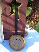 LARGE WROUGHT LADLE HAMMERED COPPER IRON HANDLE Vintage Antique Water Canteen