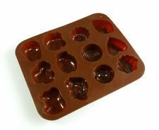 Animals Chocolate Set 1 BROWN Silicone Mould tray teddy fish rose rabbit car