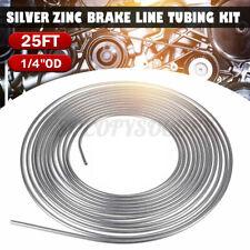 "Zinc Automotive Steel Brake Line Fuel Line Tubing Kit 1/4"" OD Coil Roll 25 FT US"