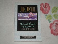 THE MERCHANT OF MENACE by JILL CHURCHILL     *SIGNED*  -ARC-  JA