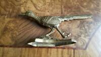Vintage Cast Brass Roadrunner Figurine