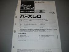 PIONEER A-X50 STEREO AMPLIFIER, ORIGNAL PAPER MANUAL