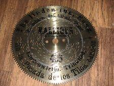"Lindenwirtin Trinklied Kalliope Blechplatte 18cm Leipzig automaton disc 7 1/8"""