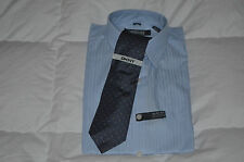 Authentic Kenneth Cole Slim Fit Dress Shirt with DKNY Gray Tie Mens 16 34/35
