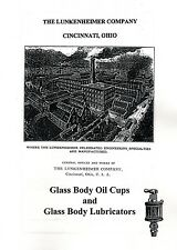 Lunkenheimer Glass Body Oil Cups and Lubricators Oilers Book Manual