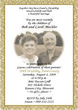 "(60) 5x7"" 50th WEDDING ANNIVERSARY PHOTO INVITATIONS GB"