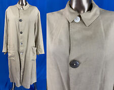Vintage Edwardian Style Men's Linen Travel Motoring Driving Duster Coat Size M