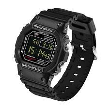 Men Stainless Steel LED Digital Date Alarm Waterproof Sports Military Army Watch