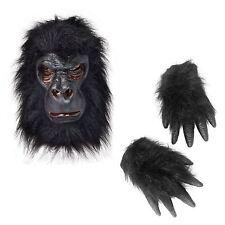 Máscara De Gorila De Tarzán de goma y las manos Zoo Piel de animal piel Conjunto de Disfraz De Mono Mono De Látex