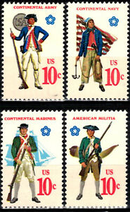 USA 1975 Sc1565-8 4v mnh Military Uniforms
