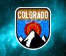 """Colorado Mountains Outdoors Decal Sticker Vinyl 3.6"""" Breck Vail Aspen Boulder"""