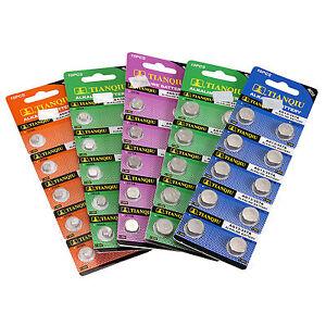 10pcs 1.55V Alkaline Watch Battery AG0 AG4 1 5 6 7 11 AG10 AG13 Coil Cell Choose