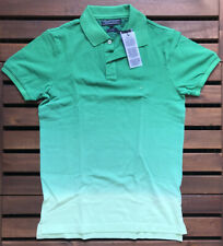 Tommy Hilfiger Mens Dip Dyed Slim Fit Polo Shirt - Green- Small - 0857849134-346