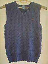 Polo Ralph Lauren Boys Sweater Vest. Color: Blue. Sz: XL (18-20)