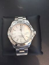 Tag Heuer WAP2011 AUTOMATIC Aquaracer Watch Mens Silver S.steel 300M/1000feet