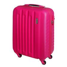 Handgepäck Hartschalen Reise Koffer Trolley Bordgepäck 4 Rollen 30 Liter Pink