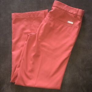 Men's Izod Golf Pants 30/30 Slim Fit Color Orange Coral