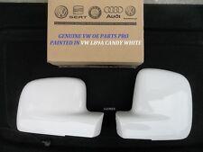 Nuevo Y ORIGINAL VW Caddy Ala espejo cubre R/H-L/H LB9A Candy Blanco 03 - 16