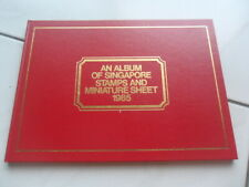 1985 Singapore Stamps & Miniature Sheet Album