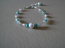 Bracelet Gris clair Turquoise p robe de Mariée/Mariage/Soirée perle pas cher