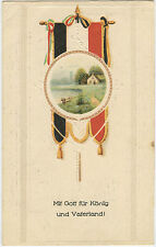 German WWI Postcard 'With God For King & Fatherland!' Patriotic 1916 (88)