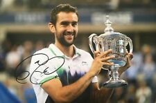 Marin Cilic signed tennis 12x8 Photo B Autograph UACC Registered dealer AFTAL