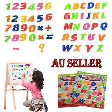 52pcs Teaching Magnetic Letters Numbers Fridge Magnets Alphabet AU STOCK