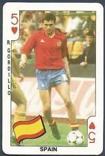 DANDY BUBBLE GUM-FOOTBALL PLAYING CARD-1986- #5H-SPAIN-R.GORDILLO