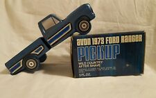 Avon Blue 1973 Ford Ranger Pickup Wild Country AFTERSHAVE 5 oz  Original Box