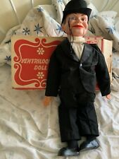 """Vintage Juro Novelty Charlie McCarthy Ventriloquist Doll Dummy 30"""" With Box"""