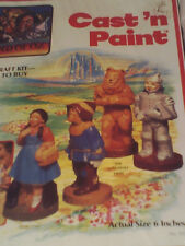 The WIZARD OF OZ FIGURES CAST 'N PAINT CRAFT KIT SEALED LAND OF OZ 1975 RARE NIB
