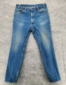 "Vintage Levis Mens 509-0217 Orange Tab Straight Leg Blue Jeans 35x30.5"""