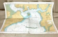 1982 Vintage Marittimo Mappa Plymouth Suono Cattedown Devonport River Plym