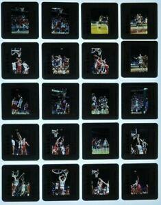 JTM3-8 1989 NBA Philadelphia 76ers Bucks Charles Barley (40pc) ORIG 35mm Slides