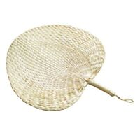 Cool Baby Mosquito Repellent Fan Summer Manual Straw Hand Fans Palm Leaf O9B9
