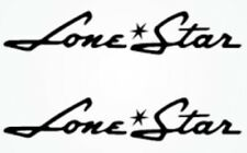 """PAIR OF """"4X28"""" LONE STAR BOAT HULL DECALS. MARINE GRADE. YOUR COLOR CHOICE."""