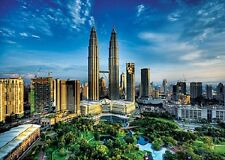 2000 pièces puzzle petronas twin towers, trefl 27075