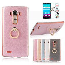 For LG G4 G3 G6 K7 Stand Holder Finger Ring Bling Glitter Soft Cover Case TPU