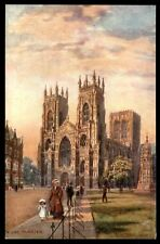 Antique York Minster UK Tuck Oilette Postcard ser 7787