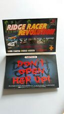 Ridge Racer Revolution rare promo card with sound look! playstation psx namco