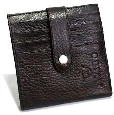Unisex Genuine Leather Black Credit Debit ATM Card Holder Case Wallet