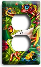 EXOTIC RAINFOREST TROPICAL TREE FROGS DUPLEX OUTLET WALL PLATE COVER HOME DECOR