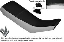 WHITE & BLACK CUSTOM FITS YAMAHA DT 125 R 90-98 DUAL LEATHER SEAT COVER