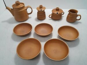 Langley Ceramic Stoneware Dishes Dish Set Teapot Creamer Bowls