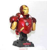 Avengers 1/4 Figure Iron Man MK7 1:4 Model LED Light PVC Bust Collectible Model