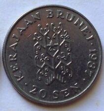 Brunei 2nd Series 20 sen 1987 coin