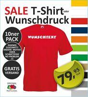 10ner Pack T-Shirt  Wunschdruck, eigenem Logo, Wunschtext, selbst gestalten #5